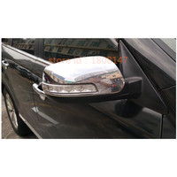 Kostenloser versand für Kia Sorento 2013-2014 auto ABS chrom dekoration stick rückansicht Rück Seite glas Spiegel trim rahmen 2 stücke