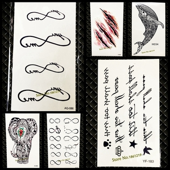 Hot fake infinity pattern temporary tattoo sticker for men women neck hand tatoo waterproof body art