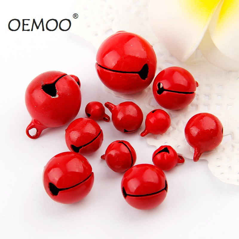 30pcs 22mm Colorful Painted Jingle Bell Metal Round Mini Bell Jewelry DIY Crafts