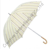 10mm Fringe Lace Umbrellas And Nickel Plated Fluted Long Ribs Aluminium Ladies Parasol Streak Printed Pongee