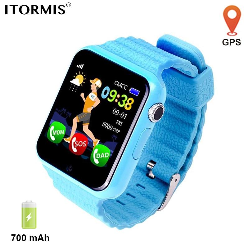 ITORMIS enfants GPS montre Smart bébé montre SmartWatch téléphone 700 mAh support carte SIM SOS emplacement caméra pour enfants Android IOS