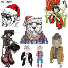 ZOTOONE Cartoon Animal Patches Applique Skull Iron on for Clothing Heat Transfers Clothes DIY Girl Kids Gift
