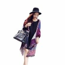 CharmDemon 2016 Fashion Women s Large Tartan Scarf Shawl Stole Plaid Woollen Cloth Tassels Scarf at30