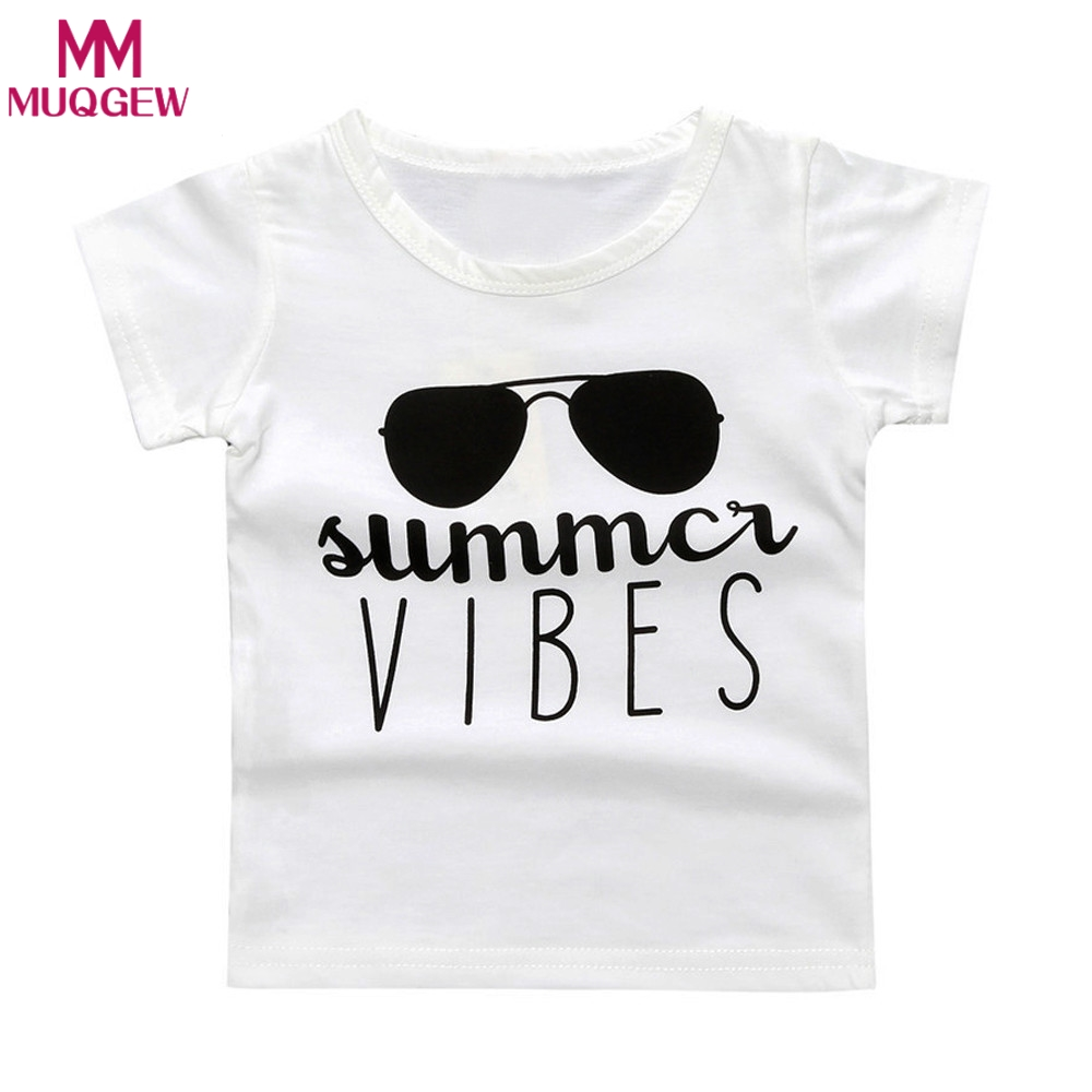 2018 kids t shirts tops boys summer sunglasses print for Graphic t shirts for kids