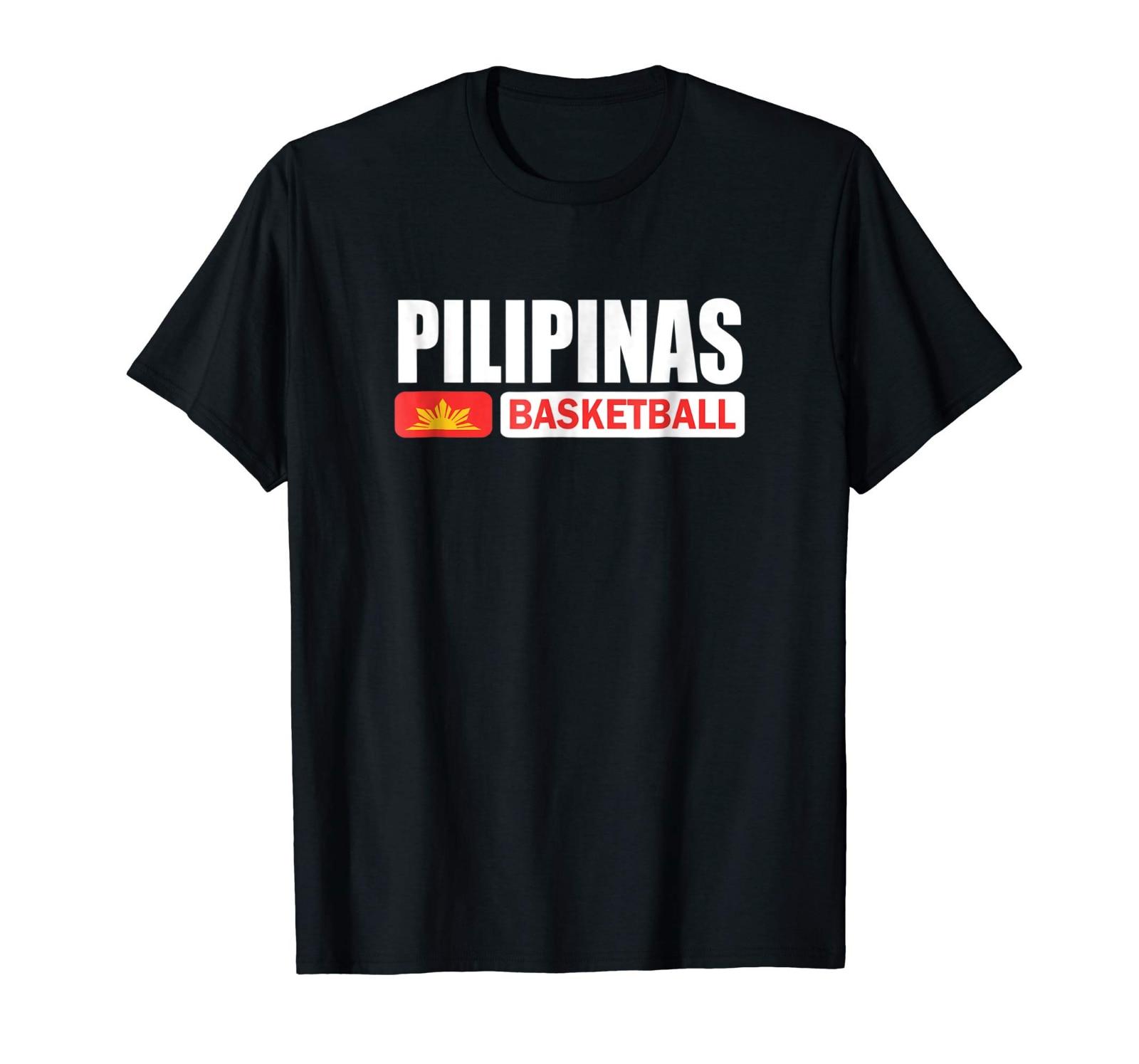 500168b36fc2a Pilipinas Basketball Black T-Shirt Gilas Philippines FIBA World  Championship Cool Casual pride t shirt