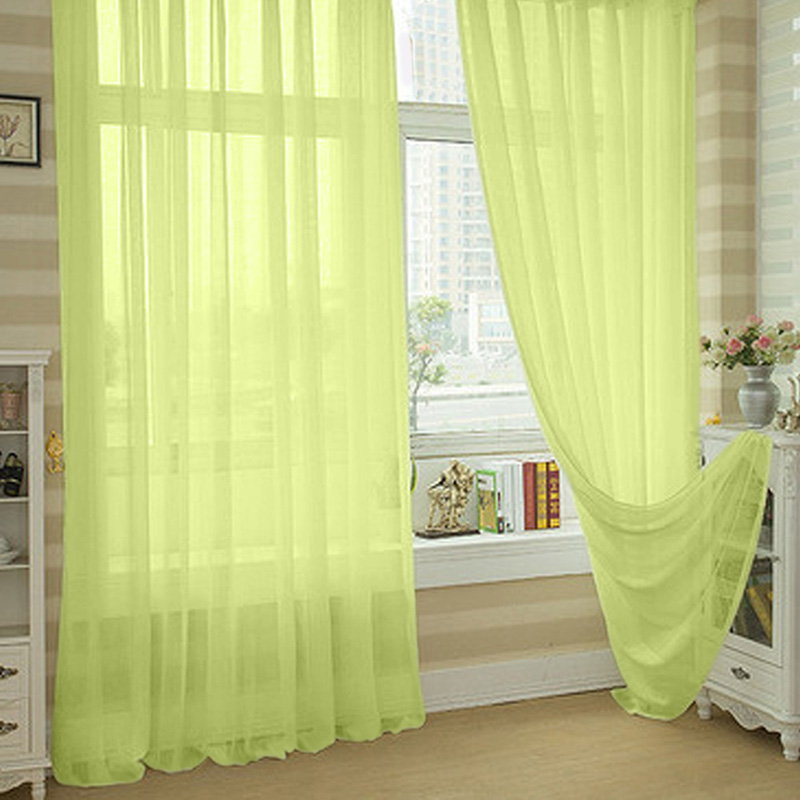 Buy valances colors sheer voile curtain for Painting sheer curtains