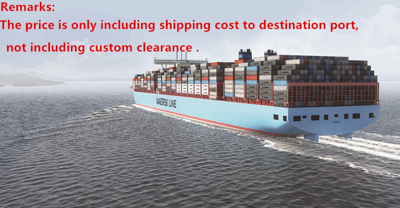 Shipping cost to these detail destination port ,not including custom clearance cost justifying usability