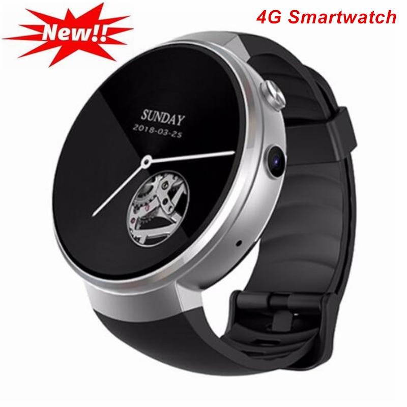 4G Smartwatch Hommes Android 7.0 Carte SIM Bluetooth Montre Smart Watch GPS Wifi Caméra 16 GB Mémoire Hreat Taux Hommes montres PK Q1 Pro