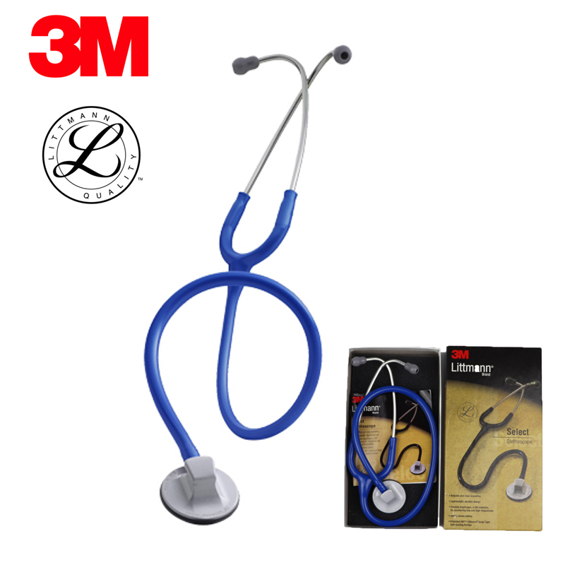 Original 3M Littmann Select Stethoscope Single Head Cardiology Estetoscopio Cute Medical Stethoscope Blue Color