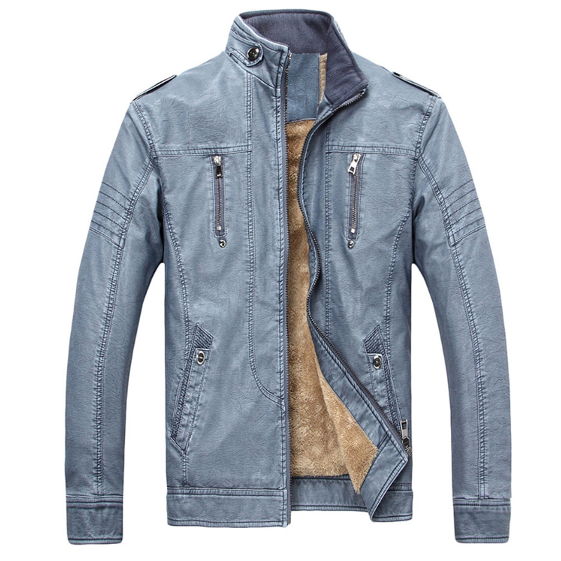 New PU Lether Jacket Man Biker Jackets Male Pu Leathers Coat For Men  Masculine Jean Jacket Mens Motorcycle Jackets 2ded5ae50925
