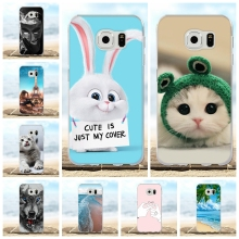 For Samsung Galaxy S6 Case Soft Silicone For Samsung Galaxy S6 G920 G920F Cover Animal Patterned For Samsung Galaxy S6 Coque Bag стоимость