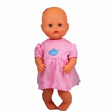 Doll Clothes Fit 35cm Nenuco Doll Nenuco Ropa Baby Realistic Reborn Doll Accessories Pink Teapot Lace Dress For 13inch Doll(China)