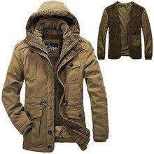 Плюс Размер L-4XL Съемный Вкладыш Новые мужские Длинные 100% Ployester Толстый Зимний Снег Теплый Куртка Пальто Из Искусственного Меха ветровки, 2 Цвета, 1358