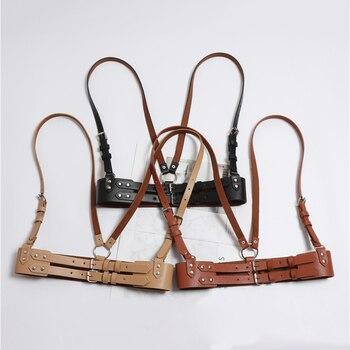 HATCYGGO Sexy Belt Female Slim Leather Belts For Women Harness Body Bondage Waist Straps Adjustable Buckle Garter Waistband