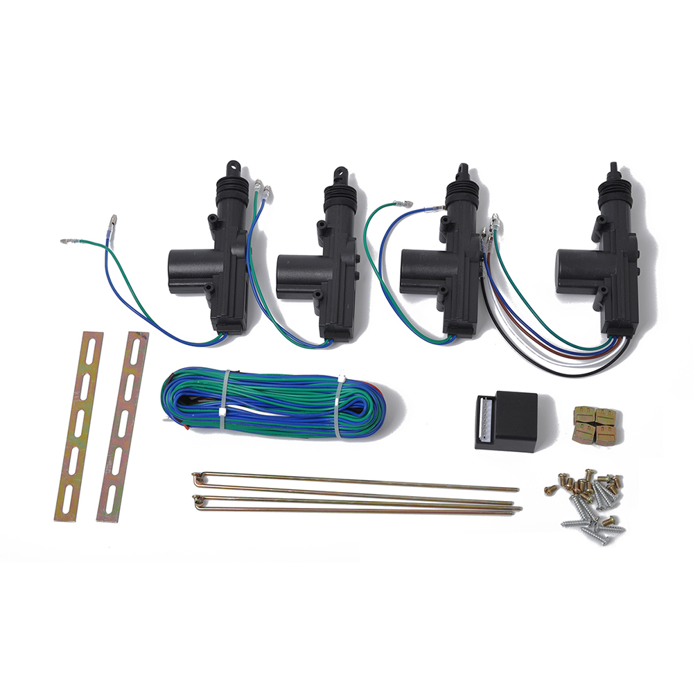 Car Central Locking System Power Slave Door Lock Actuator 5 Wire Wiring 12v Universal Auto 4 Doors Keyless Entry Kit 2 Wires