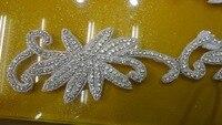 2015 Decorative Plastic Rhinestone Trimmings Beaded Bridal Trims For Wedding Dresses Crystal Rhinestone Applique Trimming