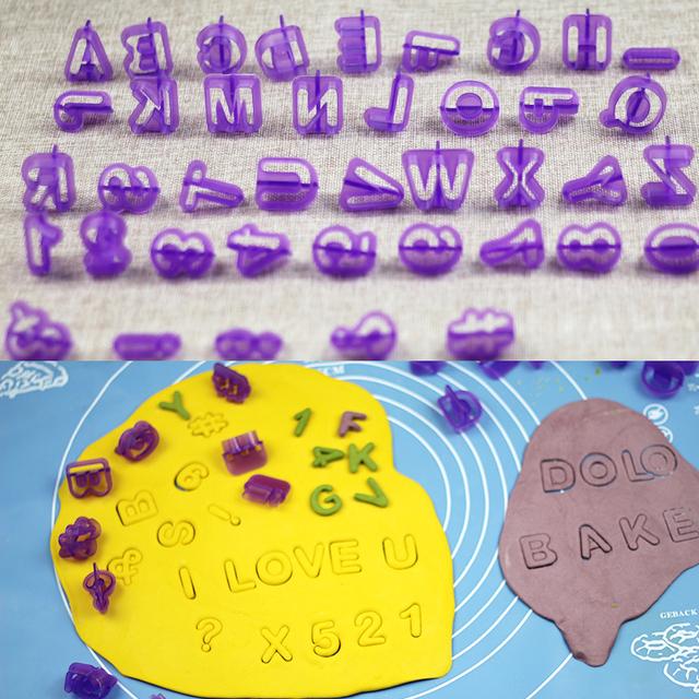 40pcs/Set,  Alphabet Letters for Bakery Decor