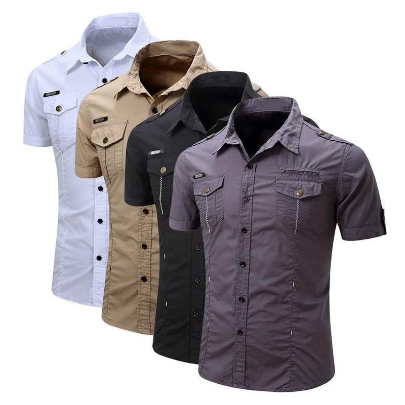 BYWX Men Long Sleeve Stand Collar Stripe Business Slim Button Down Blouse Shirt Tops