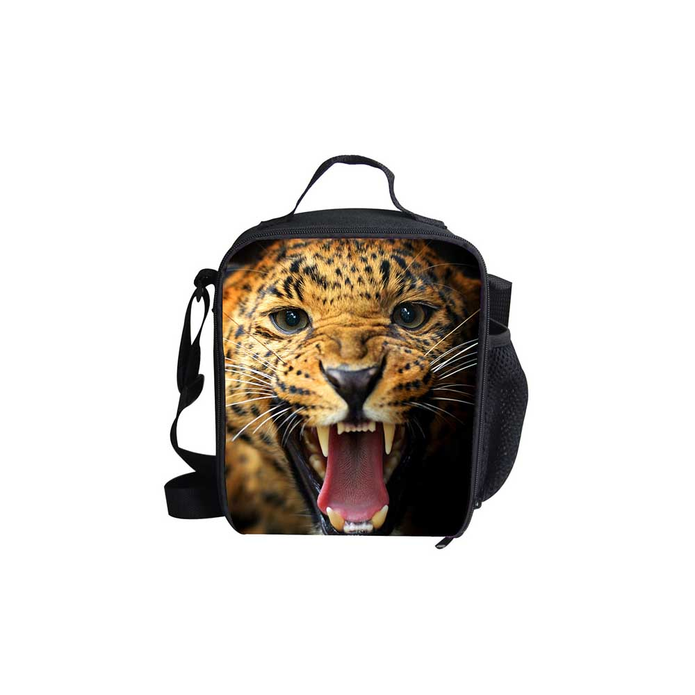Noisydesigns Insulated Lunch Bag for School Kids Ferocious Lion Lunch Bags Women Children Kids Thermal Bag Lunch Bolsa