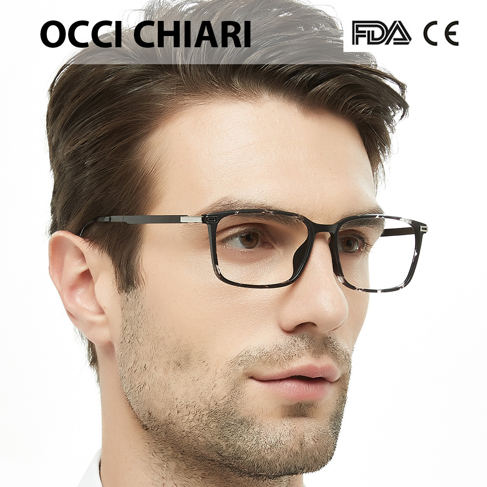 52bb1b199b OCCI CHIARI Lightweight Black Round Eyewear Frames With Optical Clear Lens  For Women and Men