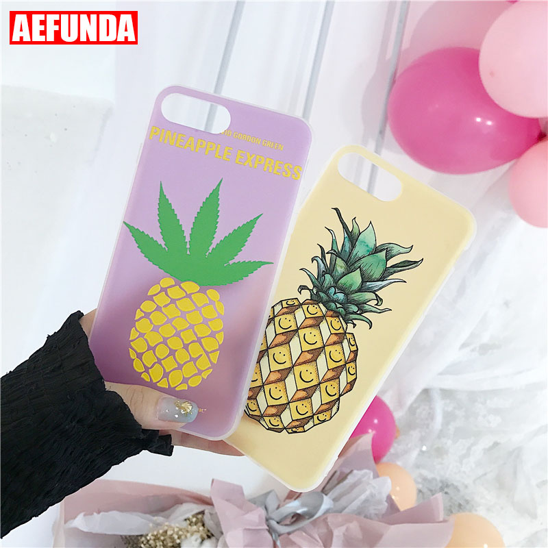 Cool Summer Pineapple Fruit Pattern Phone Case for iPhone 7 8 6S X 10 Fashion Soft TPU Protective Cover For iPhone 6 S 8 Plus