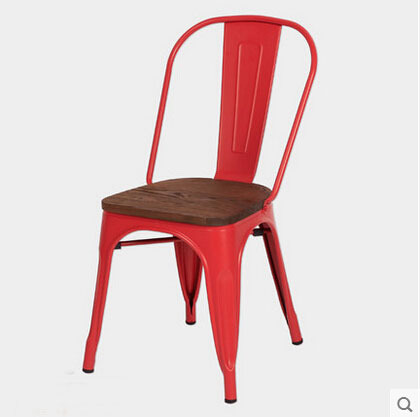 Free Shipping Red Side Chair with Elem Wood Seat bronx полусапоги и высокие ботинки