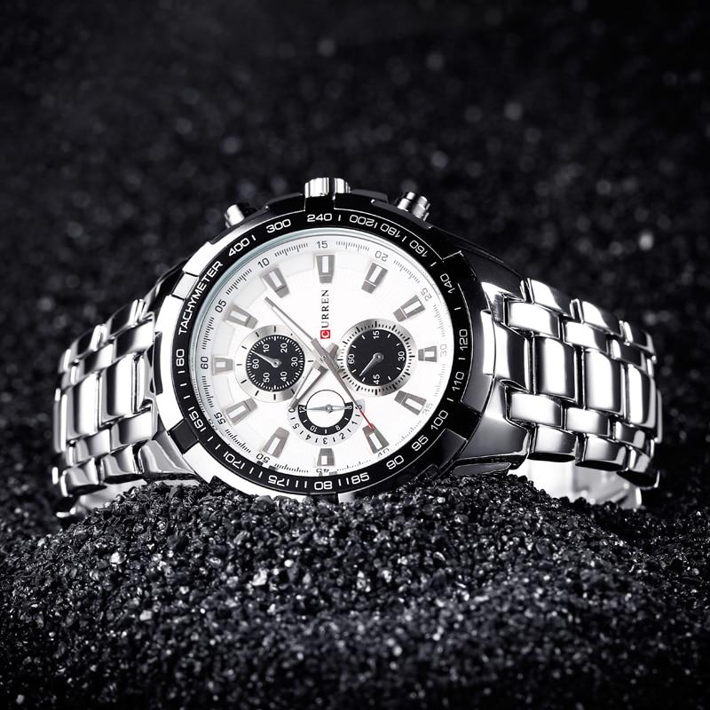 2018 Top Brand Luxury pełny stalowy zegarek Mężczyźni Business - Męskie zegarki - Zdjęcie 2