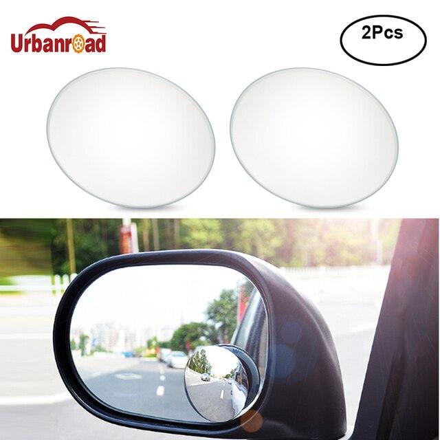 Urbanroad 2 Pcs/pair 360 Derajat Cermin Cangkir Hisap Menginstal Auto Kursi Belakang Cermin Tanpa Bingkai Tanpa Titik Buta Kaca cermin