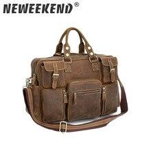 цена на Free Shipping Vintage Style Mens genuine leather large luggage duffle gym bag shoulder tote handbag travel bag 3062