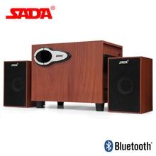 SADA D-222 Picket Subwoofer 3D Encompass Stereo Bass PC USB Bluetooth Wi-fi Speaker Pc Audio system Help TF Card U Disk