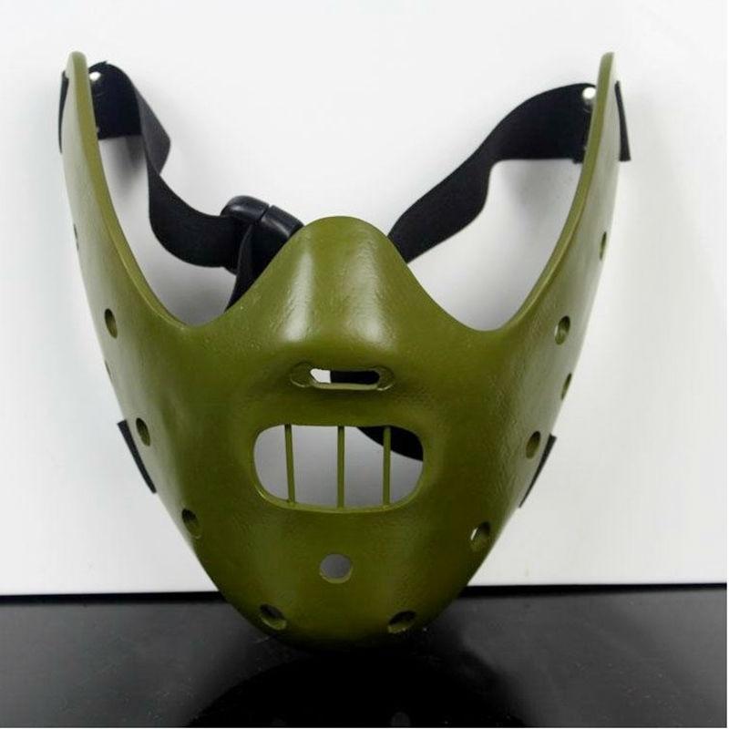Ticho jehňat maska Ocel Zuby Hannibal Lecter Halloween Maškarní Party Cosplay kostým pryskyřice masky pro dospělé Velikost