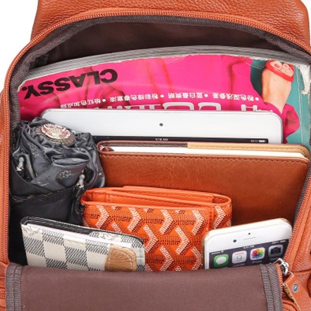 Женский рюкзак из натуральной кожи с карманами 6