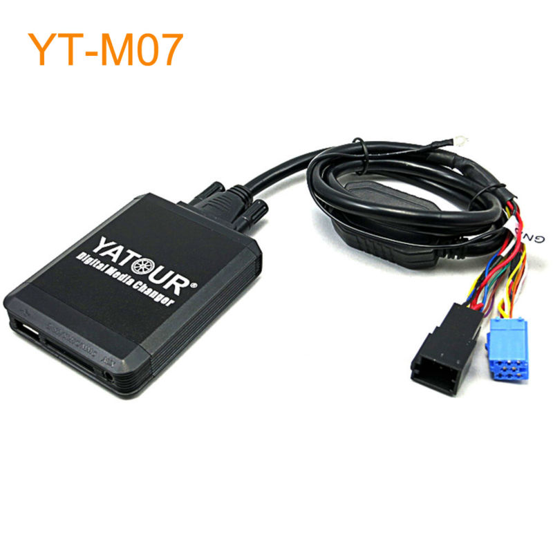 Yatour M07 Car MP3 USB SD CD Changer for iPod AUX with Optional Bluetooth for Seat for Skoda for VW for Audi car usb sd aux adapter digital music changer mp3 converter for skoda octavia 2007 2011 fits select oem radios