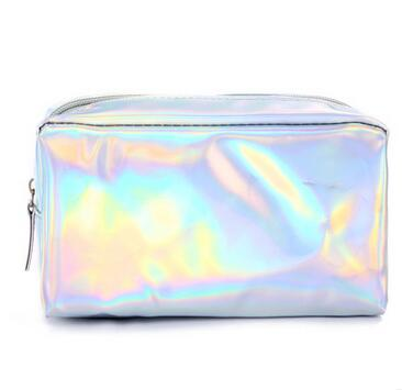 10pcs/lot Women's Fashion Cosmetic Bag Make up bags female casual solid Cosmetic bag