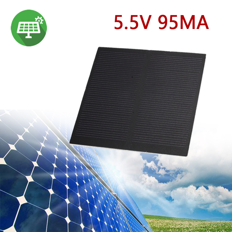 MVpower Frosted Glass Plate Fast Charger Solar Panel Solar Cell 5.5V 160mA 0.5W Solar Charger Pane Battery Cells 6.5*6.5cm