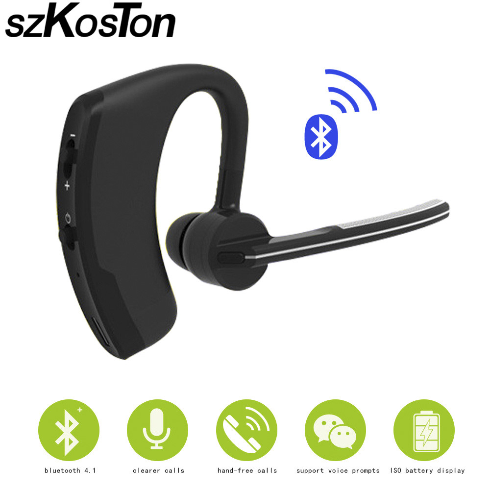 2017 Business Wireless Bluetooth Headset Mini Earhook Earphone Stereo Sport Headsets in-ear Earphones With Micphone for iphone6s qkz c6 sport earphone running earphones waterproof mobile headset with microphone stereo mp3 earhook w1 for mp3 smart phones