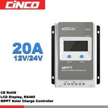 Tracer2210AN – contrôleur MPPT pour panneaux solaires, 20a, 12V/24V, 220 an, écran LCD, RS485, MT50 mètres