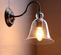 Кристалл настенный светильник колокол Современный Настенный бра лофт настенные светильники стекло Настенные светильники для дома гостина