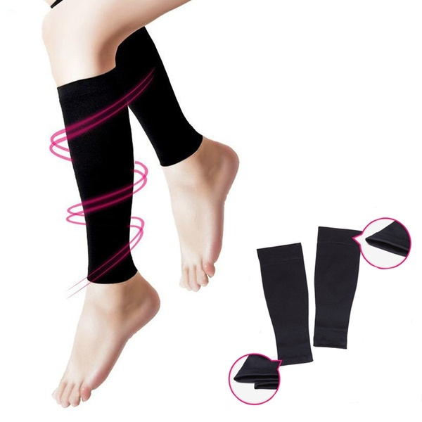 2 PCS  Varicose Veins Sleeve Socks Shin Splint Support Footful Calf Leg Running Compression Sock Leg Posture Corrector