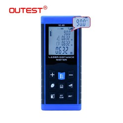 OUTEST Mini Laser Distance Meter Rangefinder Trena Laser Tape Range Finder Build Measure Device Ruler Test Tool 40m/60m/80m/100m