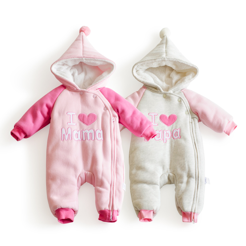 Mini Balabala Baby Snowsuit Winter Down Baby Rompers Infant Boys Girls Cartoon One-piece Outfit Children Down Clothes Snow Snow Wear