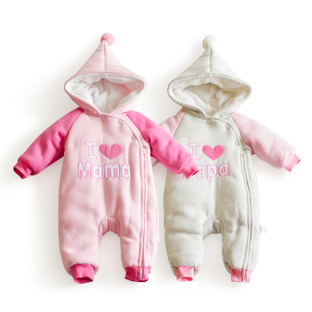 a440e6067 6-24M winter warm baby girl clothes wing thicken Fleece girls winter  clothing infant snow wear newborn Snowsuit toddlers costume