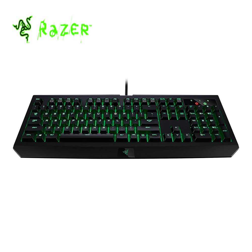 New Original Razer Blackwidow Ultimate 2016 Wired Gaming Keyboard Backlit Programmable Green Switches Mechanical Game Keyboard new arrival usb keyboard original genuine logitech g105 110 key gaming keyboard programmable keys win 7 brand new
