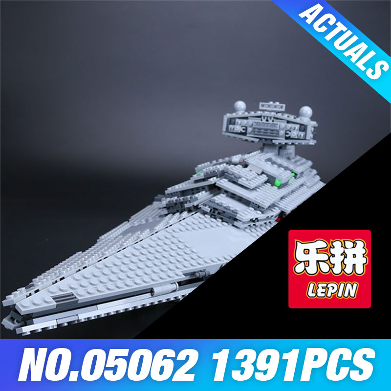 Lepin 05062 Star Series Wars The Super Star Destroyer Set Educational Building Blocks Bricks Compatible Toy Gift with 75055 05028 star wars execytor super star destroyer model building kit mini block brick toy gift compatible 75055 tos lepin
