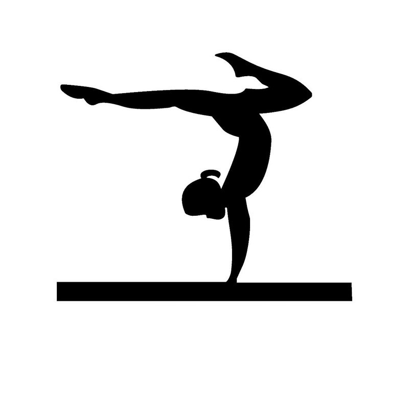 personality womenu0027s gymnastics balance beam car styling stickers 13 colourchina mainland