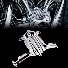 Chrome Tappet / Lifter Block Accent Cover For Harley Twin Cam Street Glide Road King 00 16 Model