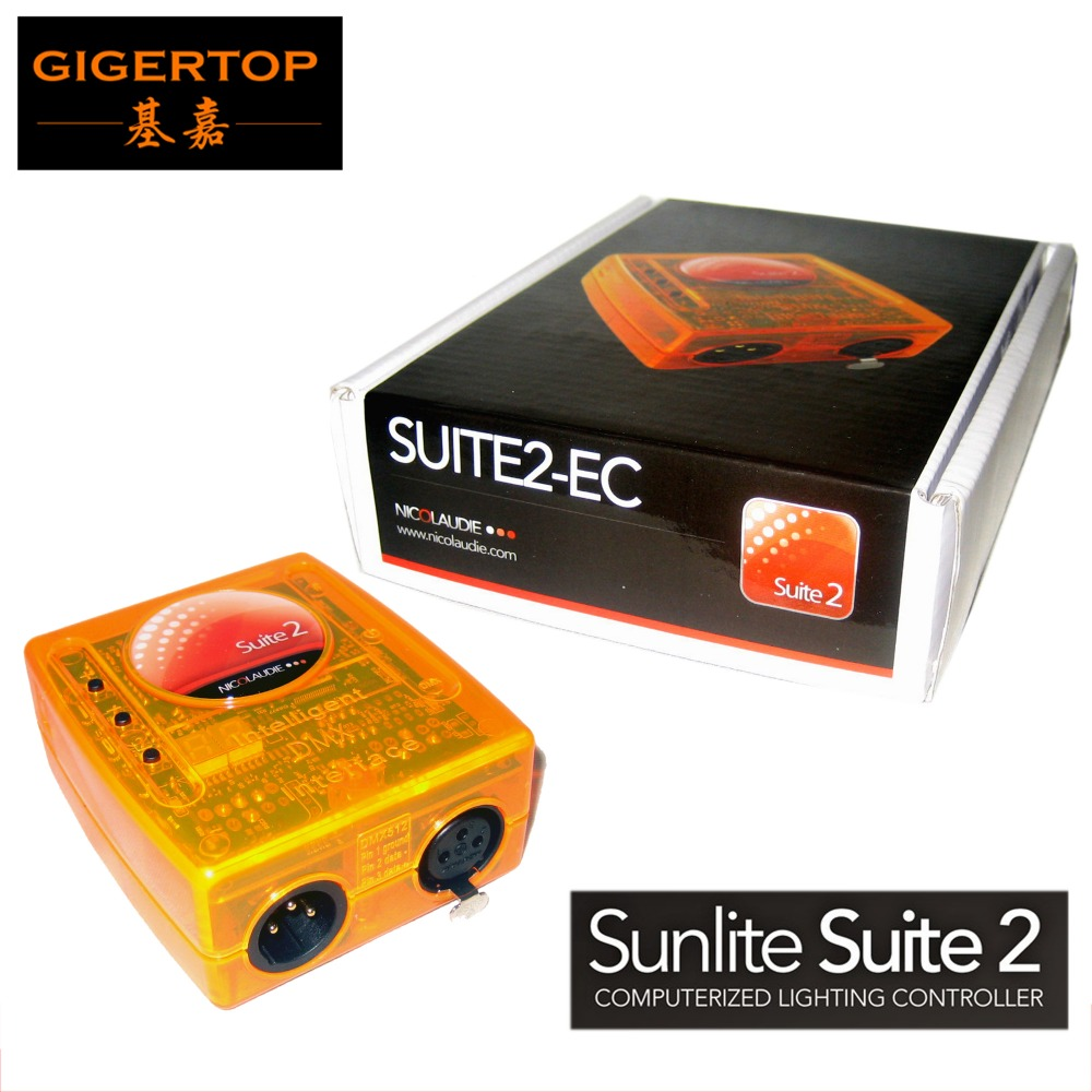 Free Shipping 1pcs Sunlite suite 2 Economy Stage Lighting USB DMX PC Interface Sunlite Suite 1024 DMX Channels EC Controller dhl free shipping sunlite suite1024 dmx controller 1024 ch easy show lighting effect stage equipment dmx color changing tool