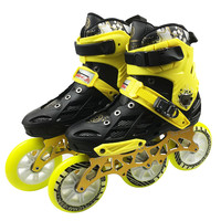Professional Adult Roller Skating Shoes 3*110mm Changeable Slalom Speed Patines Free Racing Skates for SEBA Powerslide User F040