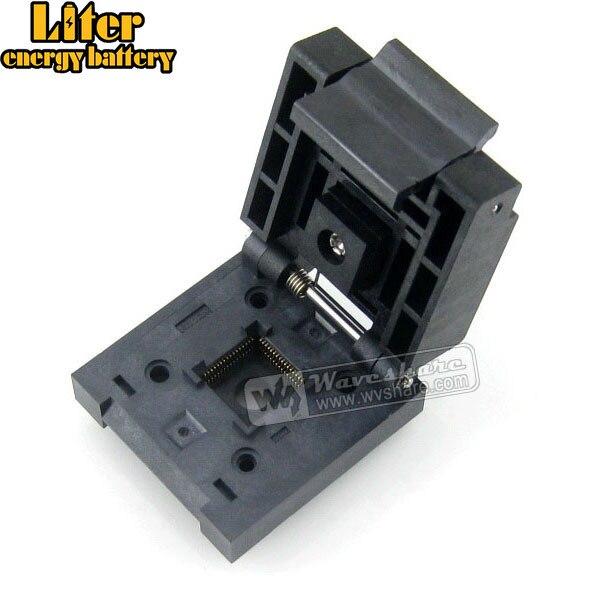 QFN64 MLP64 MLF64 QFN-64B-0.5-01 Enplas QFN 9x9 mm 0.5Pitch IC Test Burn-In SocketQFN64 MLP64 MLF64 QFN-64B-0.5-01 Enplas QFN 9x9 mm 0.5Pitch IC Test Burn-In Socket