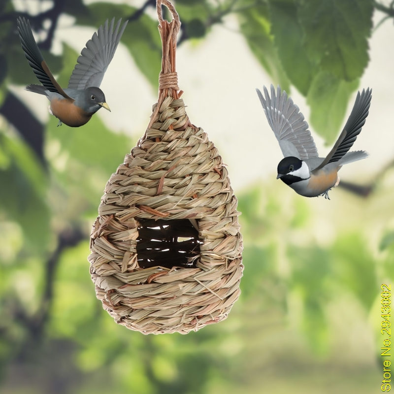 New Pet Salon Birdhouse Garden Outdoor Wildlife Hanging Wood Yard Lawn Bird Nest